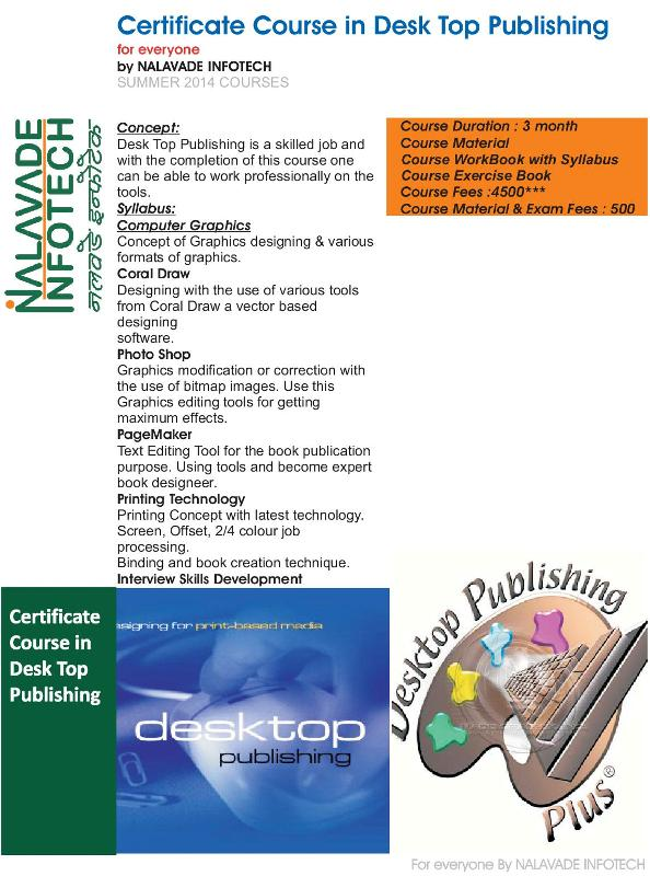 Desktop Publishing Course in Karad