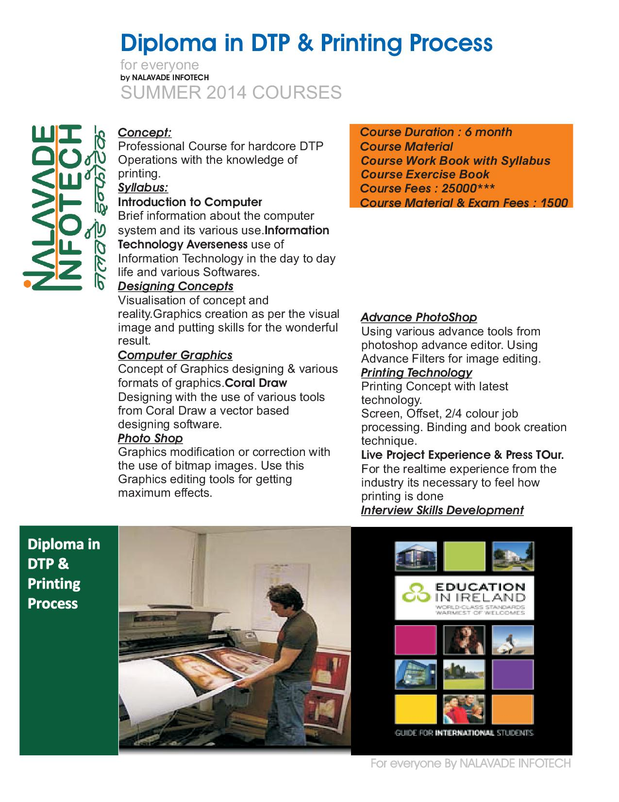 Diploma in DTP & Printing Process